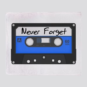 Tape Cassette Never Forget Throw Blanket