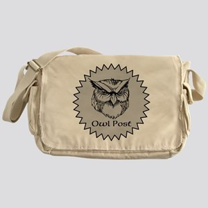 Owl Post (silver) Messenger Bag