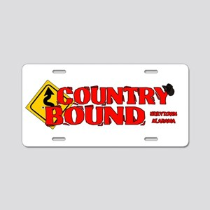 Country Bound Aluminum License Plate
