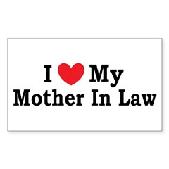 I love my Mother In Law Sticker (Rectangle)