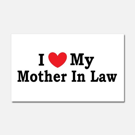 I love my Mother In Law Car Magnet 20 x 12