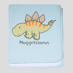 Nuggetsaurus baby blanket