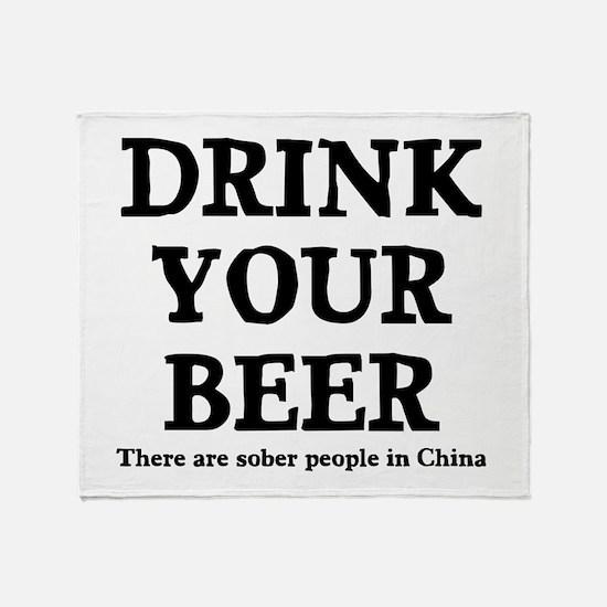 Drink Your Beer Throw Blanket