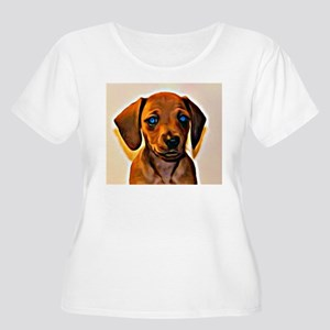 Painted Doxie Women's Plus Size Scoop Neck T-Shirt