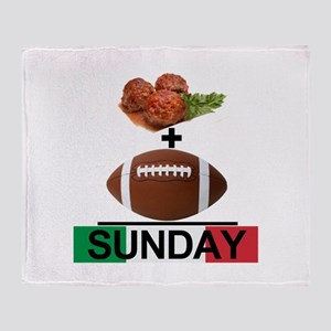 Gravy & Football = Sunday! Throw Blanket
