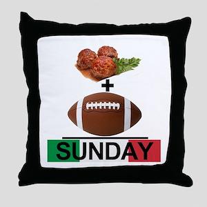 Gravy & Football = Sunday! Throw Pillow
