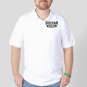 Guitar Girl Golf Shirt