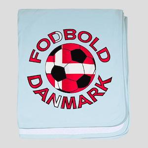 Danmark Denmark Football Fodb baby blanket