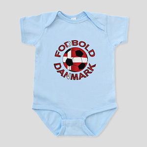 Danmark Denmark Football Fodb Infant Bodysuit