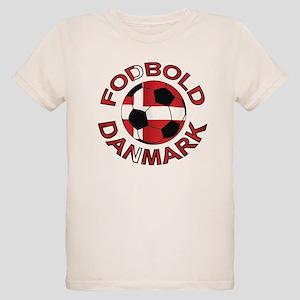 Danmark Denmark Football Fodb Organic Kids T-Shirt