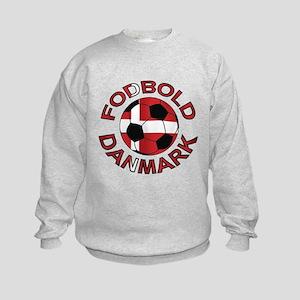 Danmark Denmark Football Fodb Kids Sweatshirt