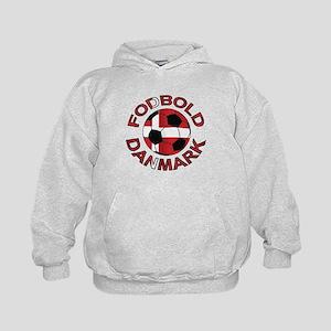 Danmark Denmark Football Fodb Kids Hoodie