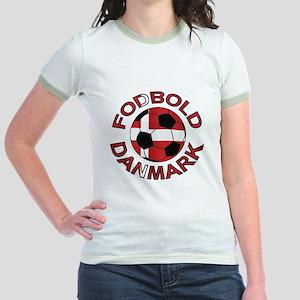 Danmark Denmark Football Fodb Jr. Ringer T-Shirt