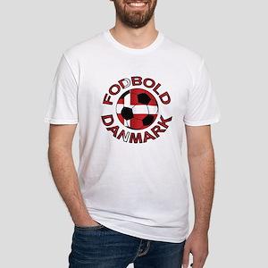 Danmark Denmark Football Fodb Fitted T-Shirt