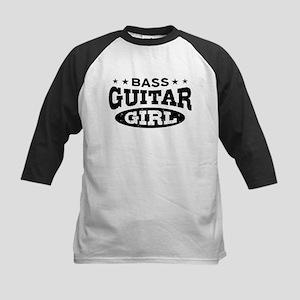 Bass Guitar Girl Kids Baseball Jersey