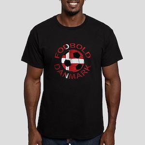 Danmark Denmark Football Fodb Men's Fitted T-Shirt