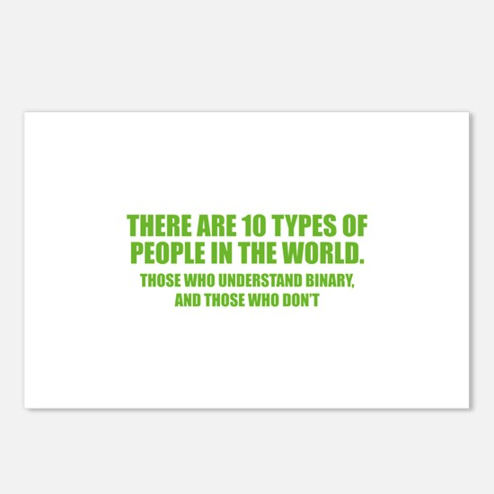 10 types of people Postcards (Package of 8)