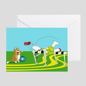 funny hurdle sports Greeting Card