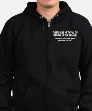 10 types of people Zip Hoodie (dark)