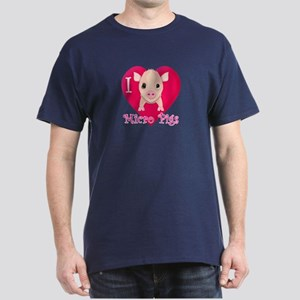 I Love Micro Pigs Dark T-Shirt
