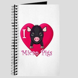 I Love Micro Pigs Journal