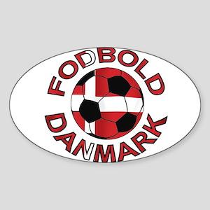 Danmark Denmark Football Fodb Sticker (Oval)