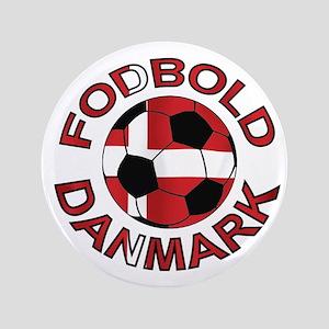 "Danmark Denmark Football Fodb 3.5"" Button"