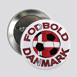 "Danmark Denmark Football Fodb 2.25"" Button"