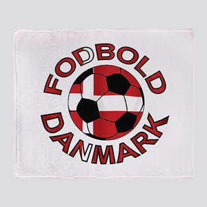 Danmark Denmark Football Fodb Throw Blanket