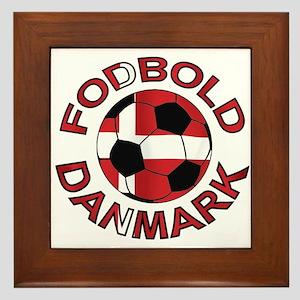 Danmark Denmark Football Fodb Framed Tile