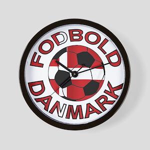 Danmark Denmark Football Fodb Wall Clock