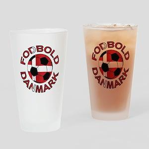 Danmark Denmark Football Fodb Drinking Glass