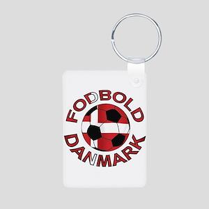 Danmark Denmark Football Fodb Aluminum Photo Keych