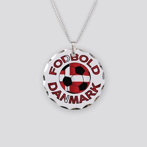 Danmark Denmark Football Fodb Necklace Circle Char