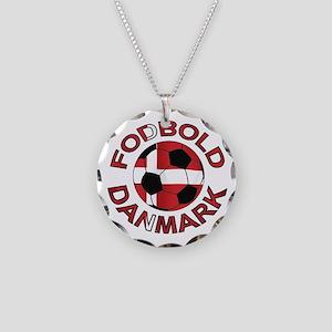 Danmark Denmark Football Fodb Necklace Circle Char