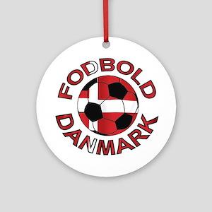 Danmark Denmark Football Fodb Ornament (Round)