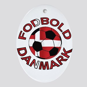 Danmark Denmark Football Fodb Ornament (Oval)