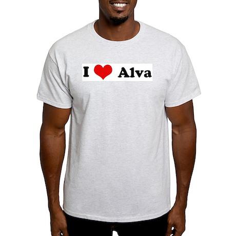 I Love Alva Ash Grey T-Shirt