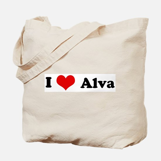 I Love Alva Tote Bag