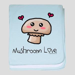 Mushroom love vegetarian baby blanket