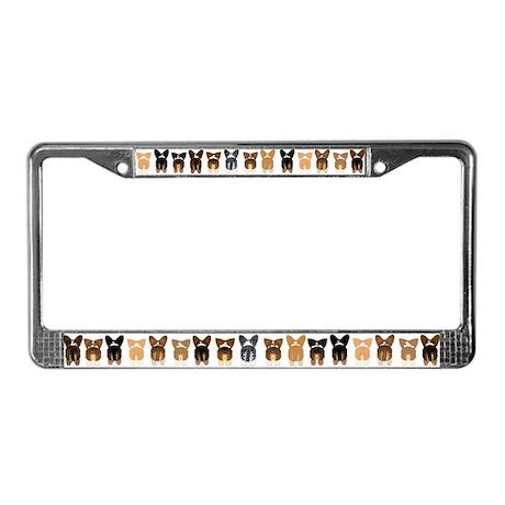 Both Corgi Butts License Plate Frame