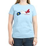 Acadian Flag Nova Scotia Women's Light T-Shirt