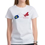 Acadian Flag Nova Scotia Women's T-Shirt