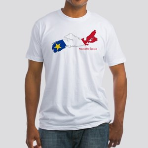 Acadian Flag Nova Scotia Fitted T-Shirt