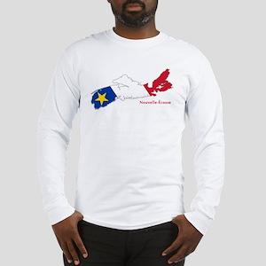 Acadian Flag Nova Scotia Long Sleeve T-Shirt