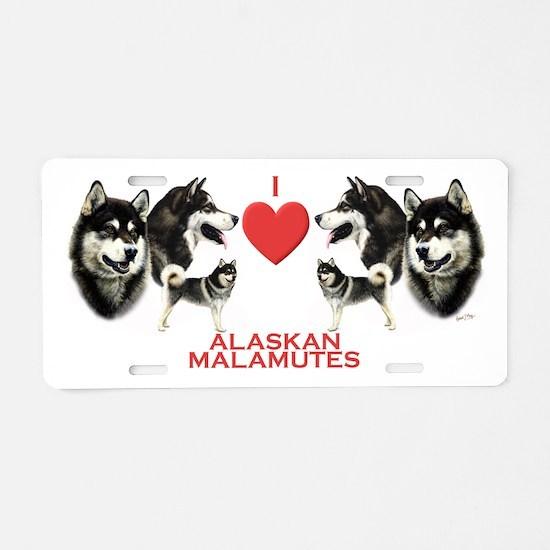 Alaskan Malamute Aluminum License Plate
