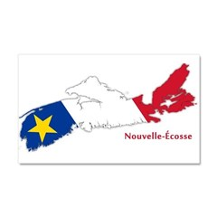 Acadian Flag Nova Scotia Car Magnet 20 x 12