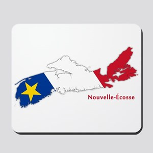 Acadian Flag Nova Scotia Mousepad