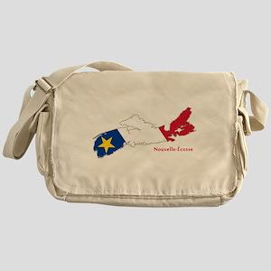 Acadian Flag Nova Scotia Messenger Bag