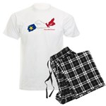 Acadian Flag Nova Scotia Men's Light Pajamas